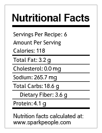 nutrional facts - chick peas