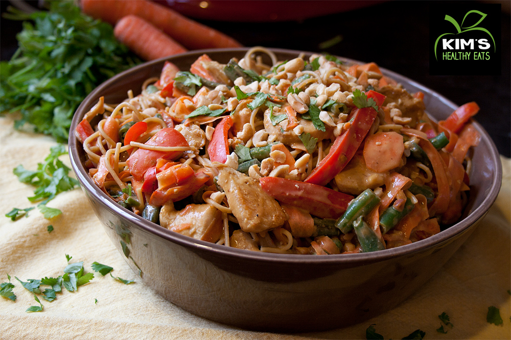peanut chicken pasta