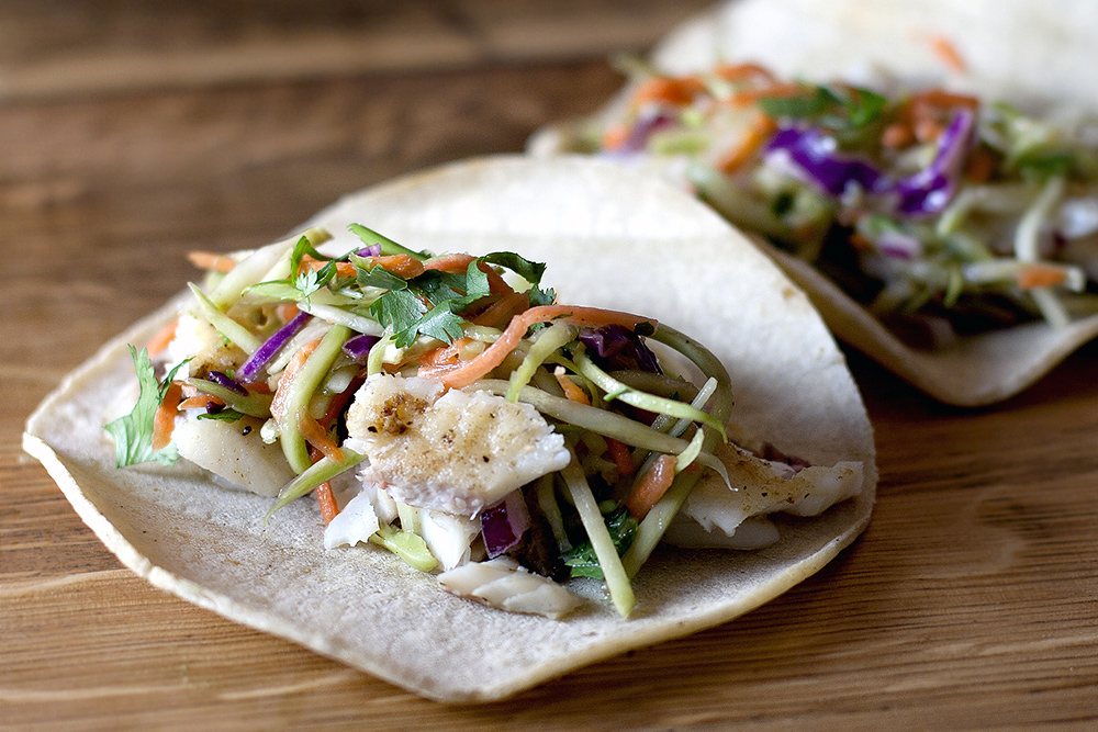 ... Guacamole would make an awesome topping to these delicious fish tacos