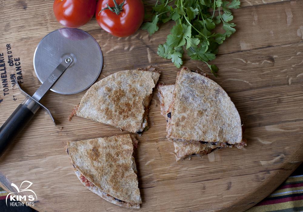 quinoa black bean quesadilla