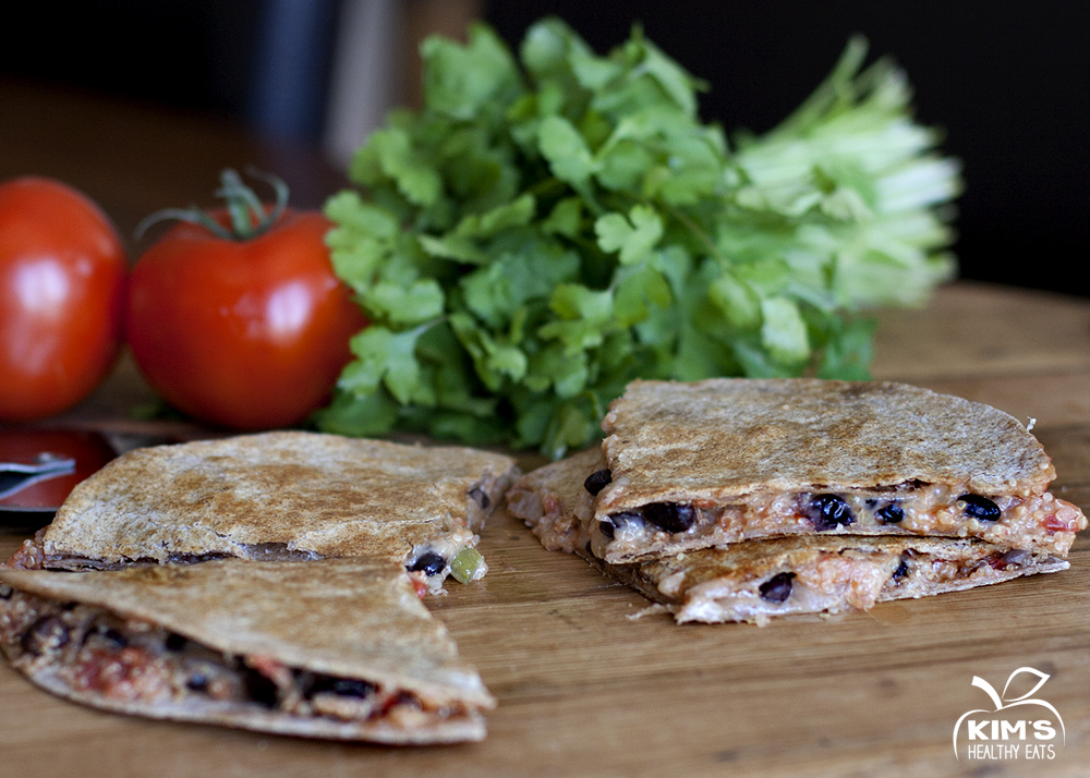 quinoa black bean quesadilla