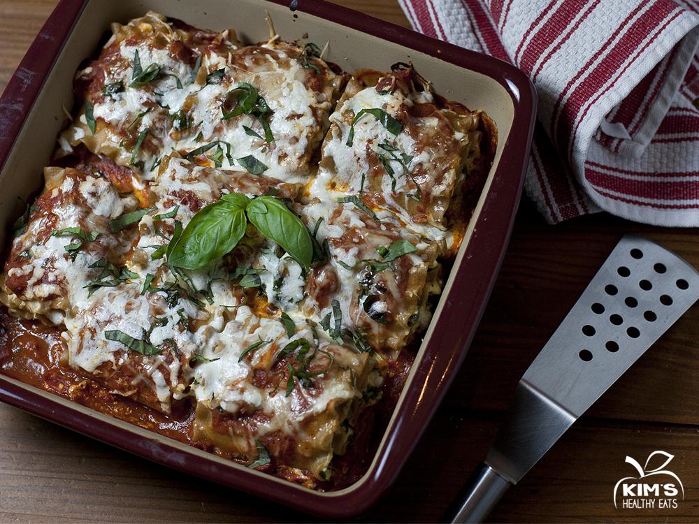 swiss chard lasagna rollup