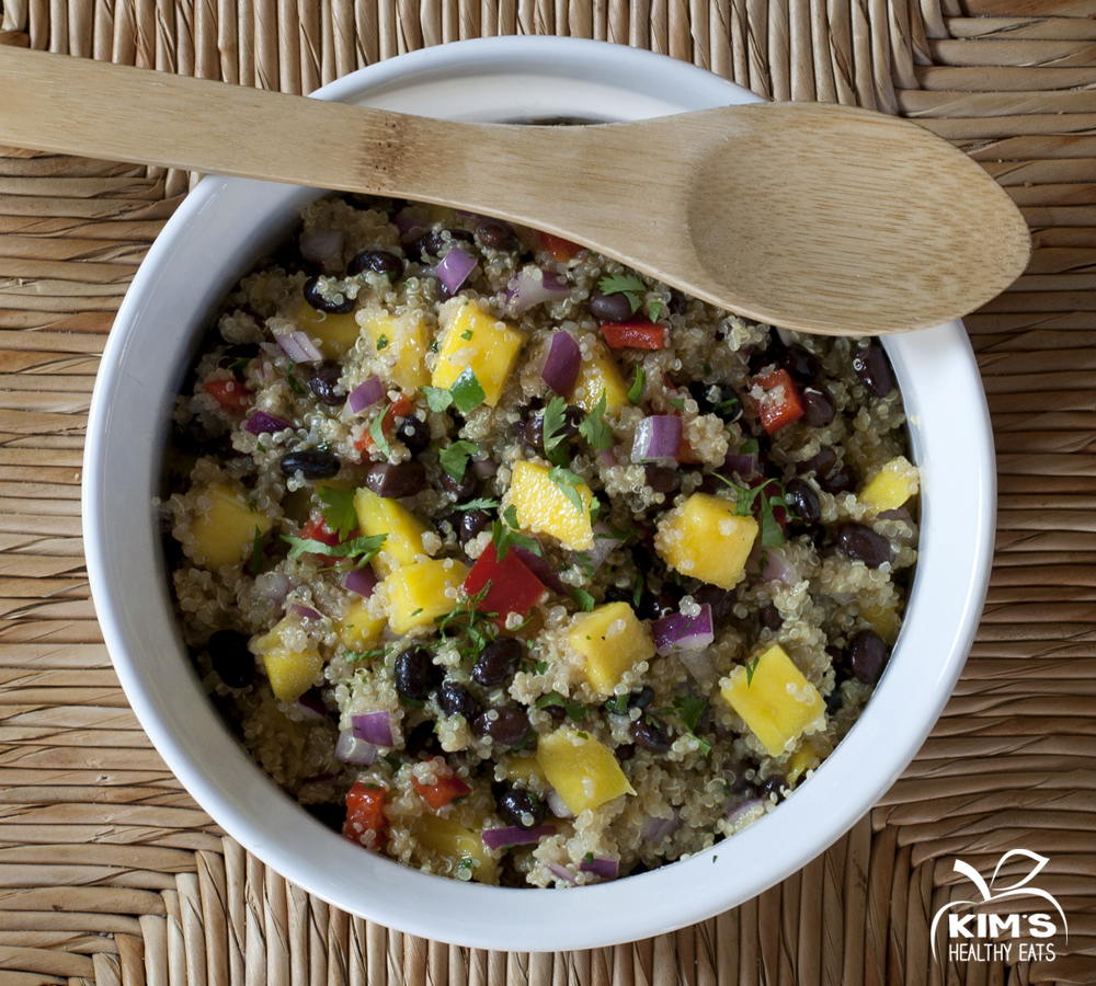 Black Bean Mango Quinoa Salad | Kim's Healthy Eats