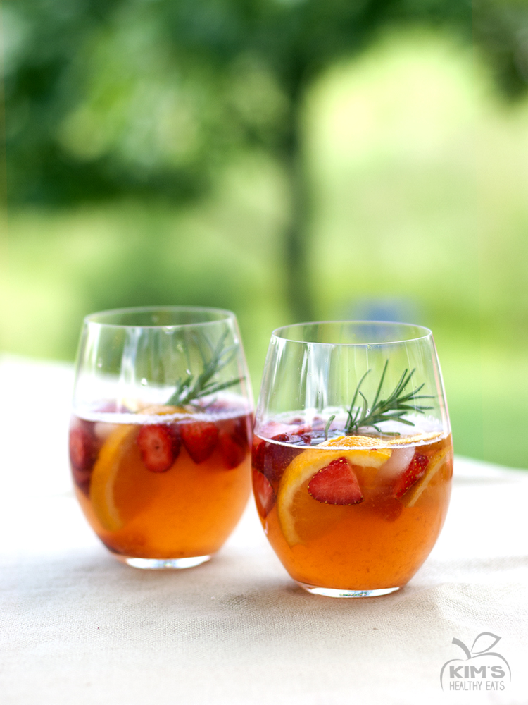 Summer Strawberry Rosemary Sangria
