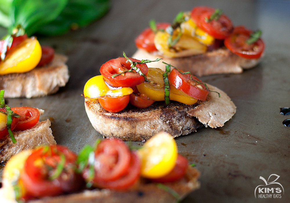 Bruschetta on a Grilled Baguette