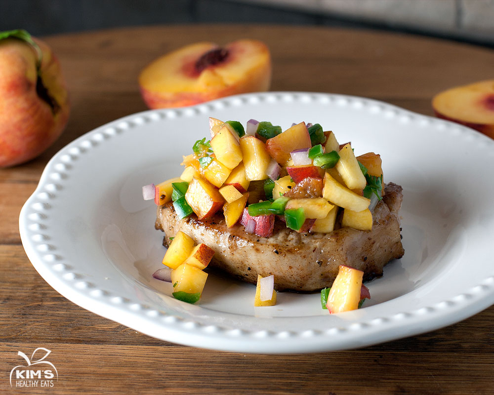 Grilled Pork Chops with Fresh Homemade Peach Salsa