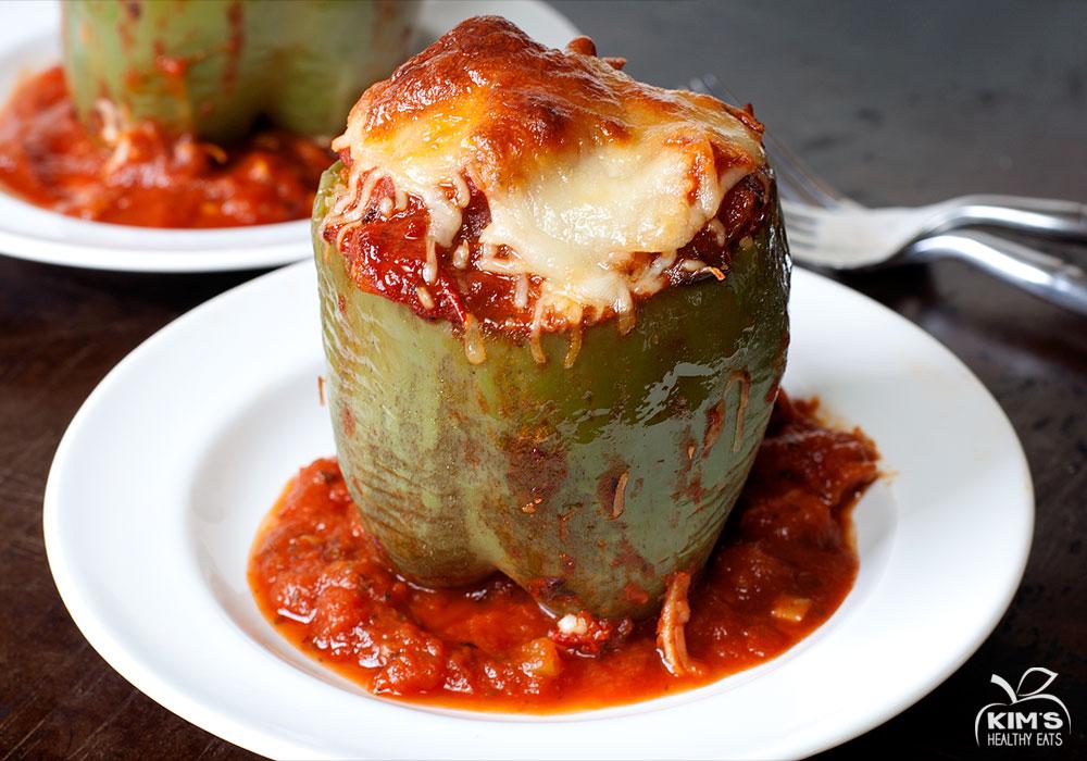 Zucchini Orzo Stuffed Peppers