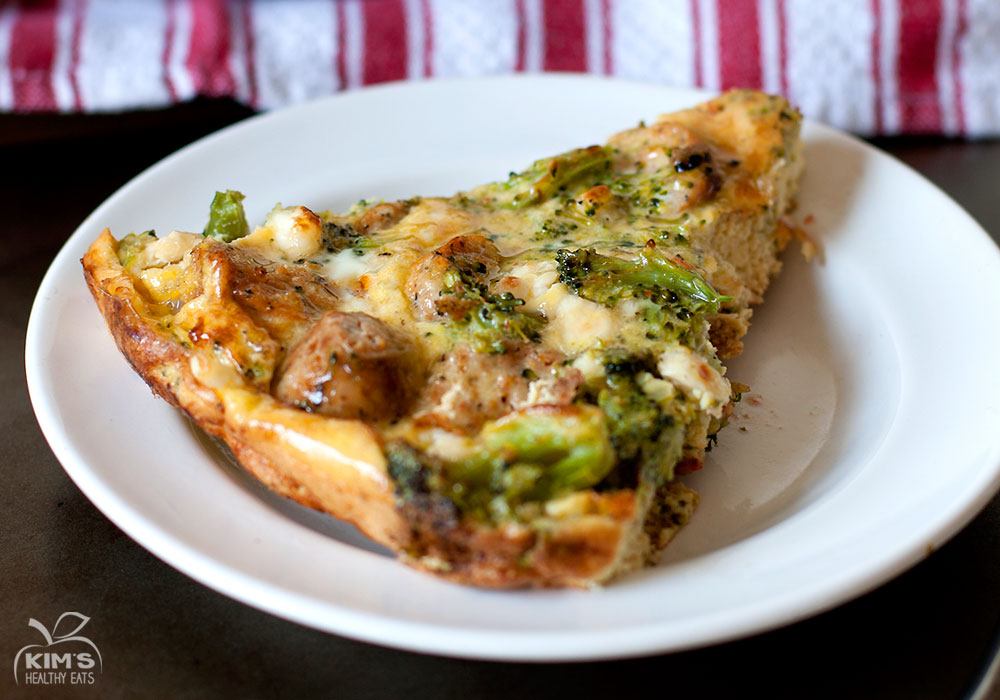 Broccoli Feta and Sausage Frittata