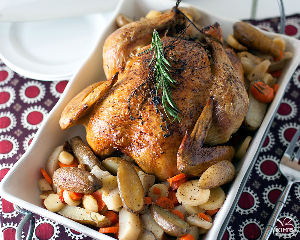 Easy Oven Roasted Chicken and Root Vegetables