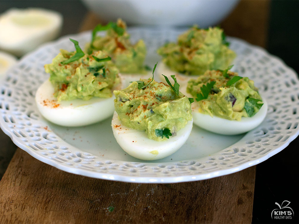 Paleo Guacamole Stuffed Deviled Eggs |