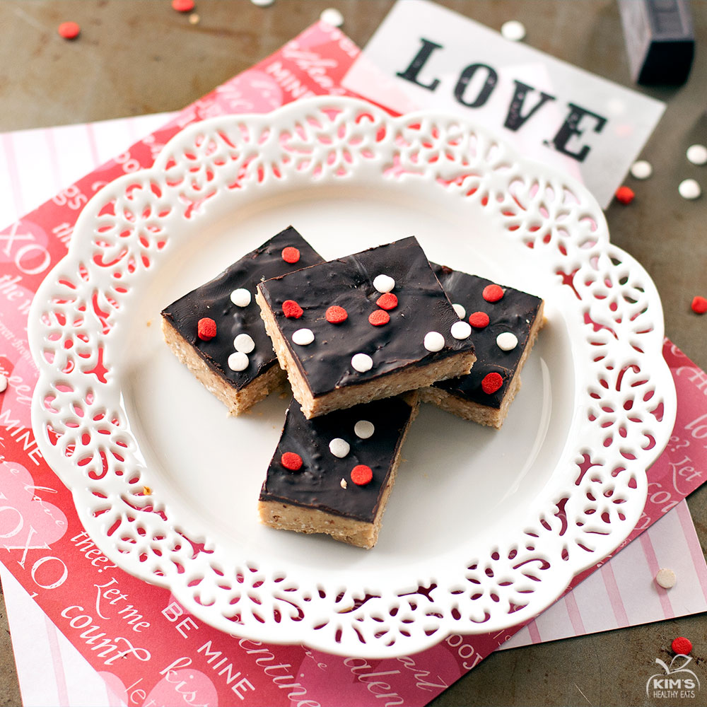 Be My Valentine Chocolate Almond Bars