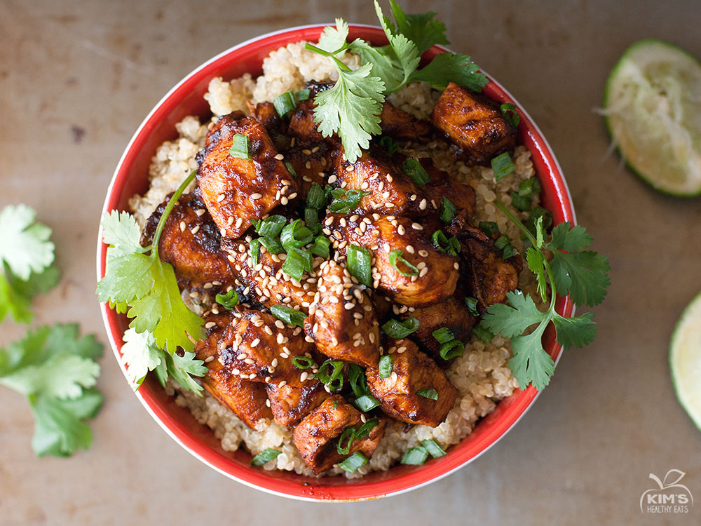 Sriracha Chicken Quinoa Bowl