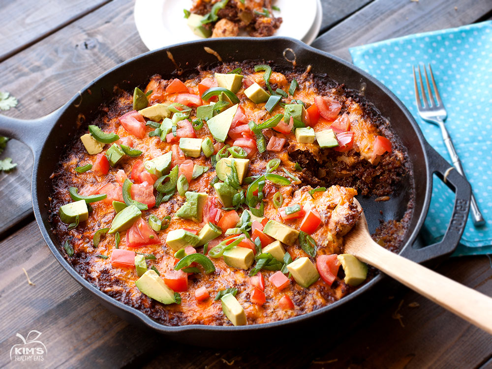 Chicken Quinoa Enchilada Bake