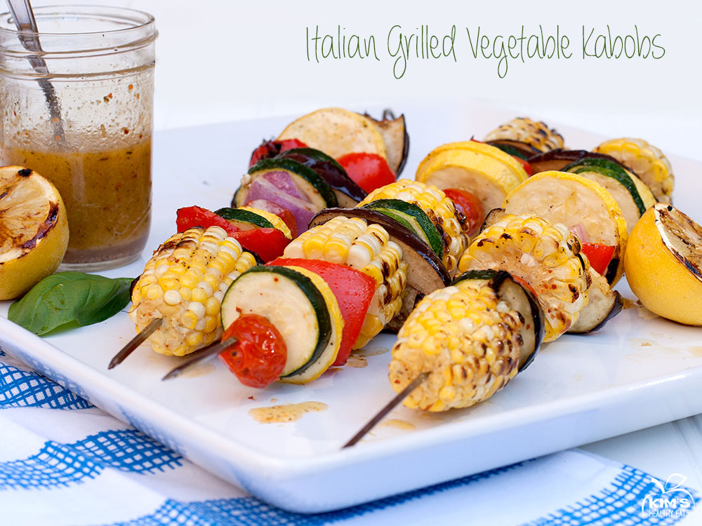 Italian Grilled Vegetable Kabobs
