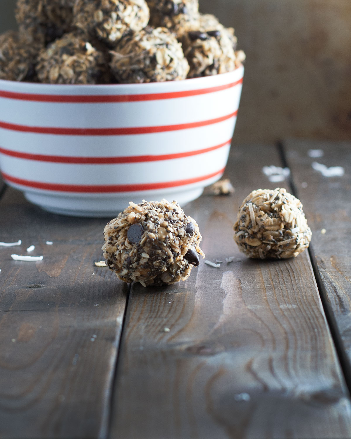 Chocolate and Coconut Granola Bites