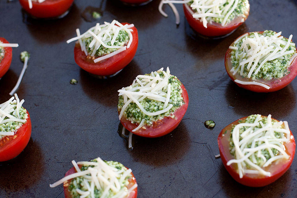 Parmesan Pesto Roasted Tomatoes