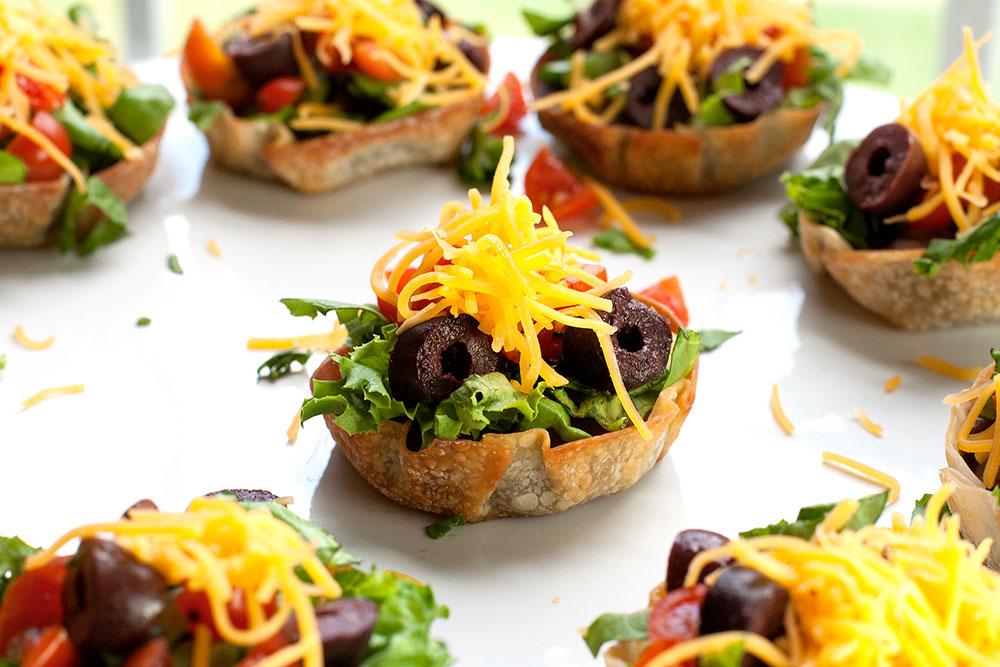 Mini Taco Salads